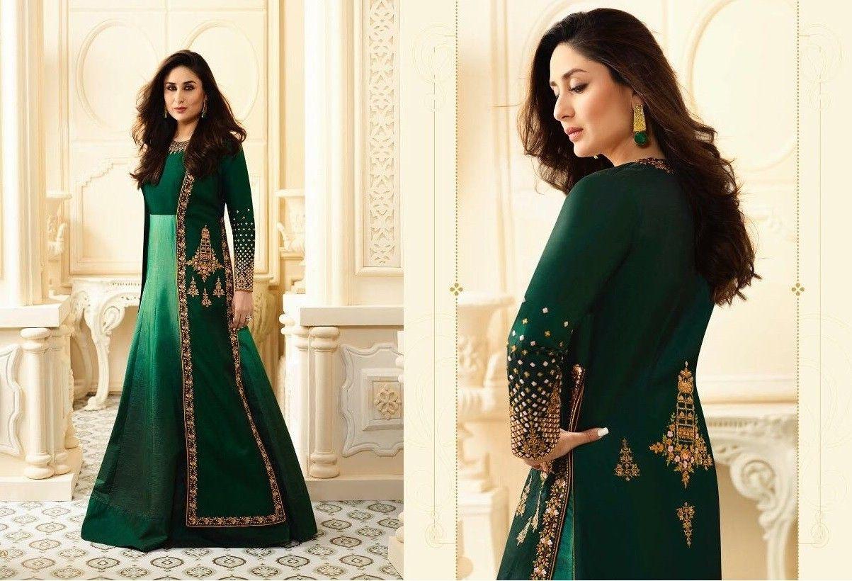 Kareena In Dark Green Floor Length Suitkareena Kapoor