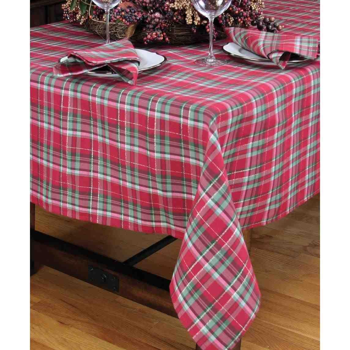 New Post Plaid Christmas Tablecloth