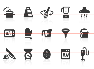 One Small Image Says It All, Describing Not Just A Kitchen Utensil But Also  An Entire Culinary Process Or Aspect. Use These Icons In Your Kitchen Design . Part 31