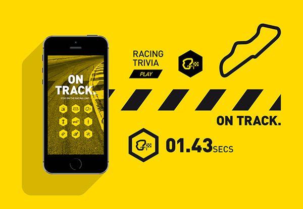 NASCAR // On Track on Behance Nascar, Behance, Branding