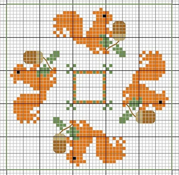 Acorns and Squirrels | fall cross stitch | Pinterest | Squirrel ...