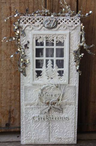 White Christmas Door