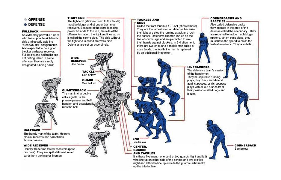 Learn The Positions Http M Dummies Com How To Content Football For Dummies Usa Edition Cheat Sheet Htm