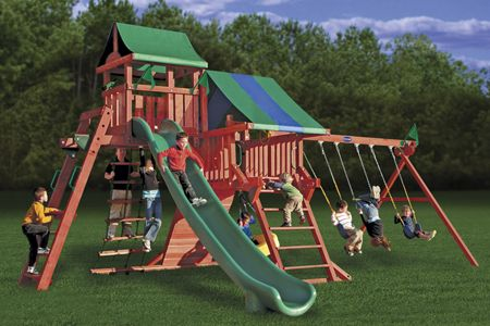 Kingdom Deluxe Playsets From Playnation Diy Kids Fun Swing Sets