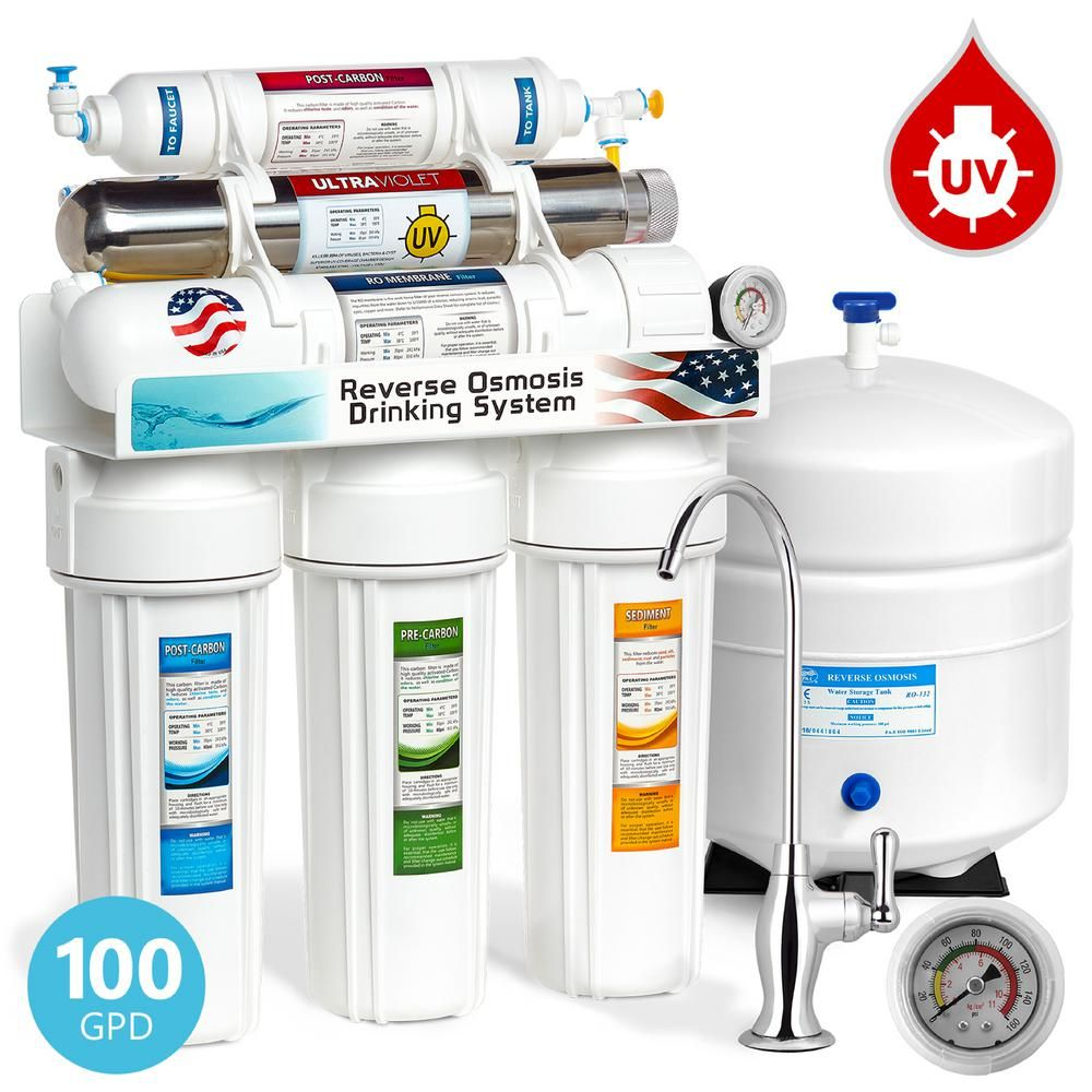 Express Water Ultraviolet Under Sink Reverse Osmosis Water