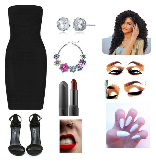 Untitled #2 by chamiqua on Polyvore featuring polyvore, beauty, Collette Z, Hervé Léger and Shoe Cult