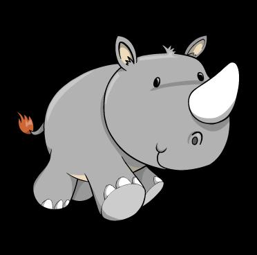 cartoon baby rhino custom wall decals wall decal art and wall rh pinterest com clipart rhinoceros cartoon rhinocéros clipart