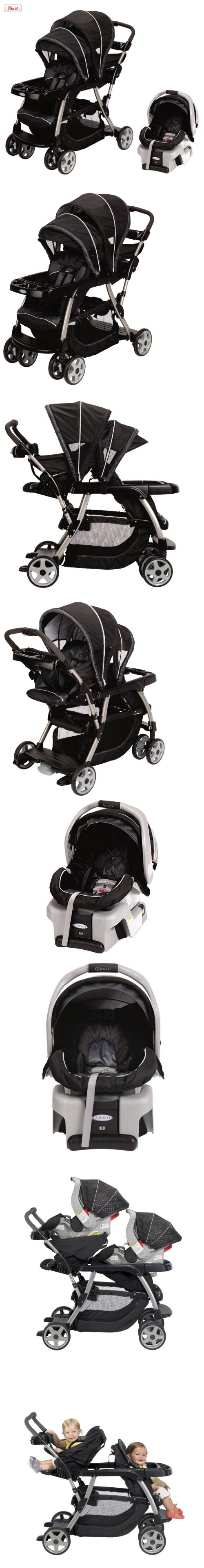Graco Ready2Grow LX Baby Stoller SnugRide Car Seat Travel System