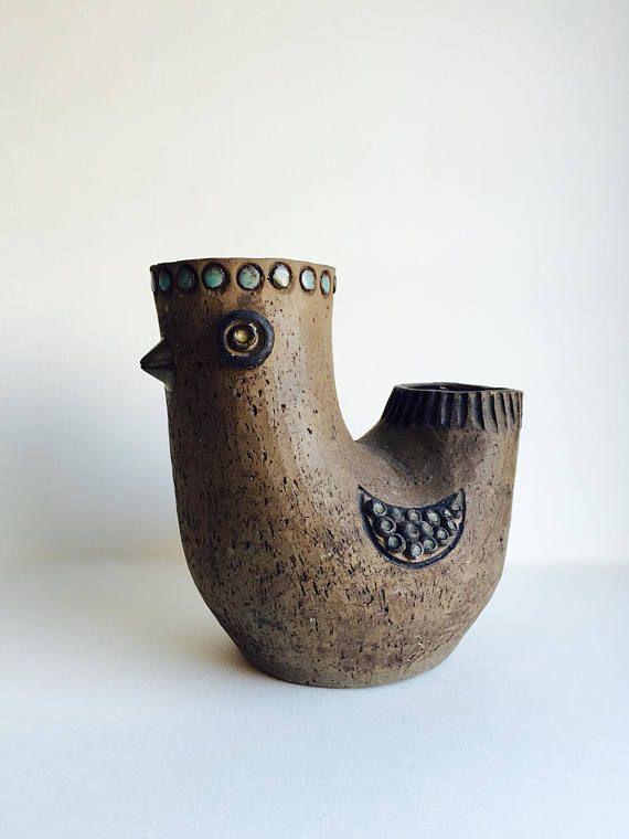 Elbogen Pottery Sweden Vintage Mid Century Modern Scandinavian Pottery Vintage Ceramic Pottery Painting