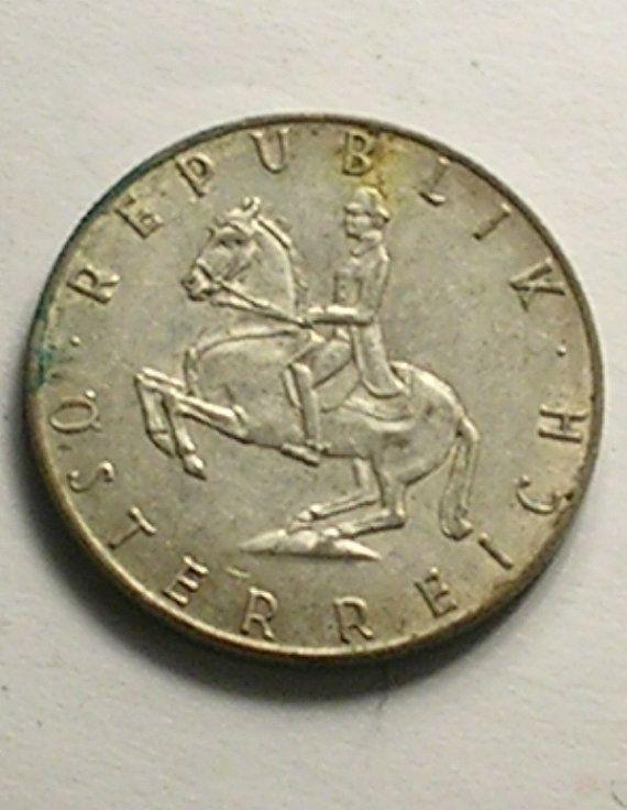 Austrian 5 Schilling Coin Republik Osterreich 1961 By Johngermaine
