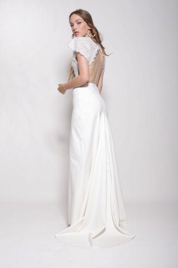Diese erstaunliche gebrochen weißes böhmischen Brautkleid mit ...