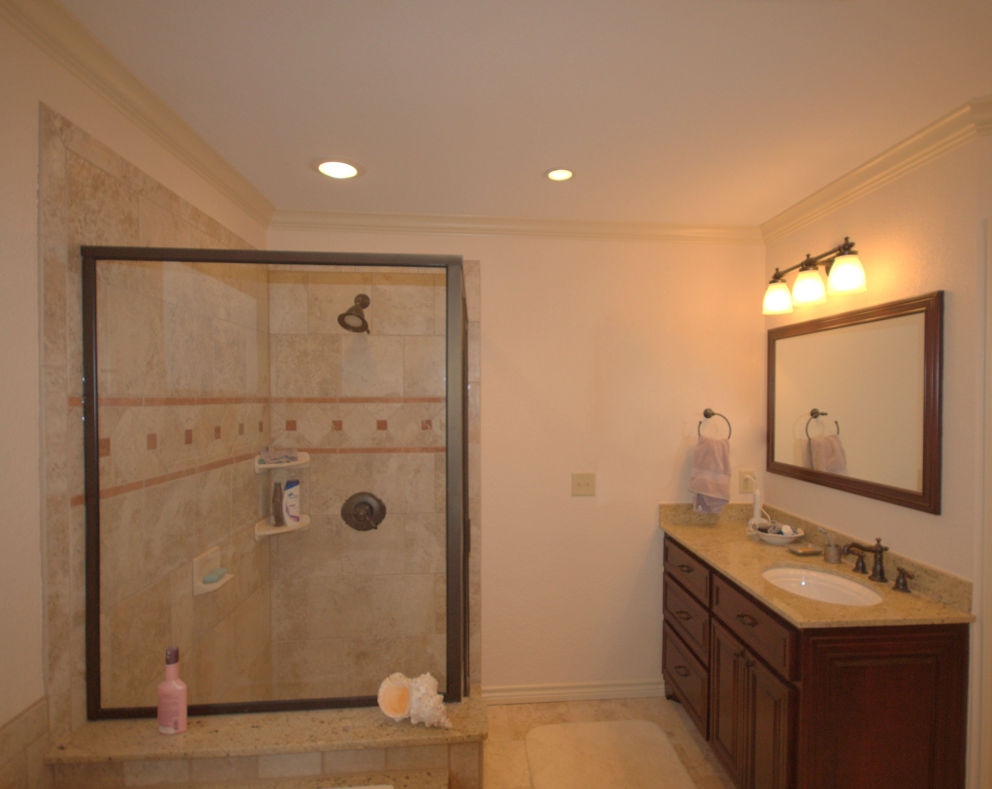 Beautiful Shower And Vanity Bathrooms Remodel Large Shower
