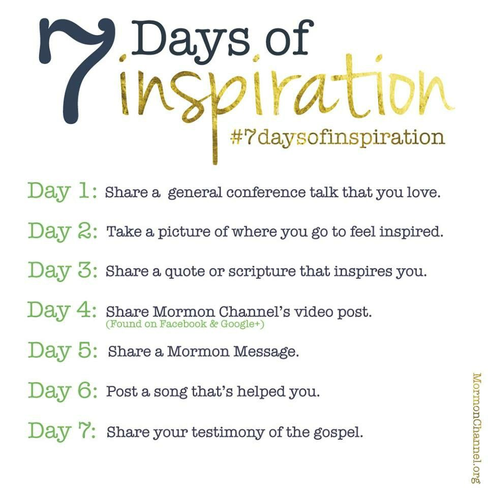 Post to Facebook 7 days of inspiration