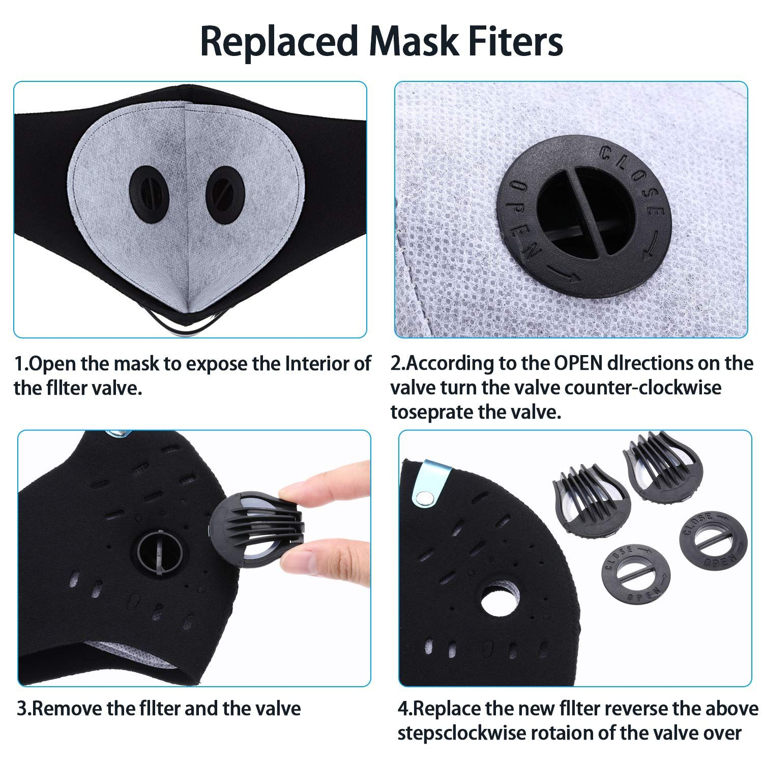 Gejoy Mask Filter Cotton Sheet for Cycling Dust Prevention