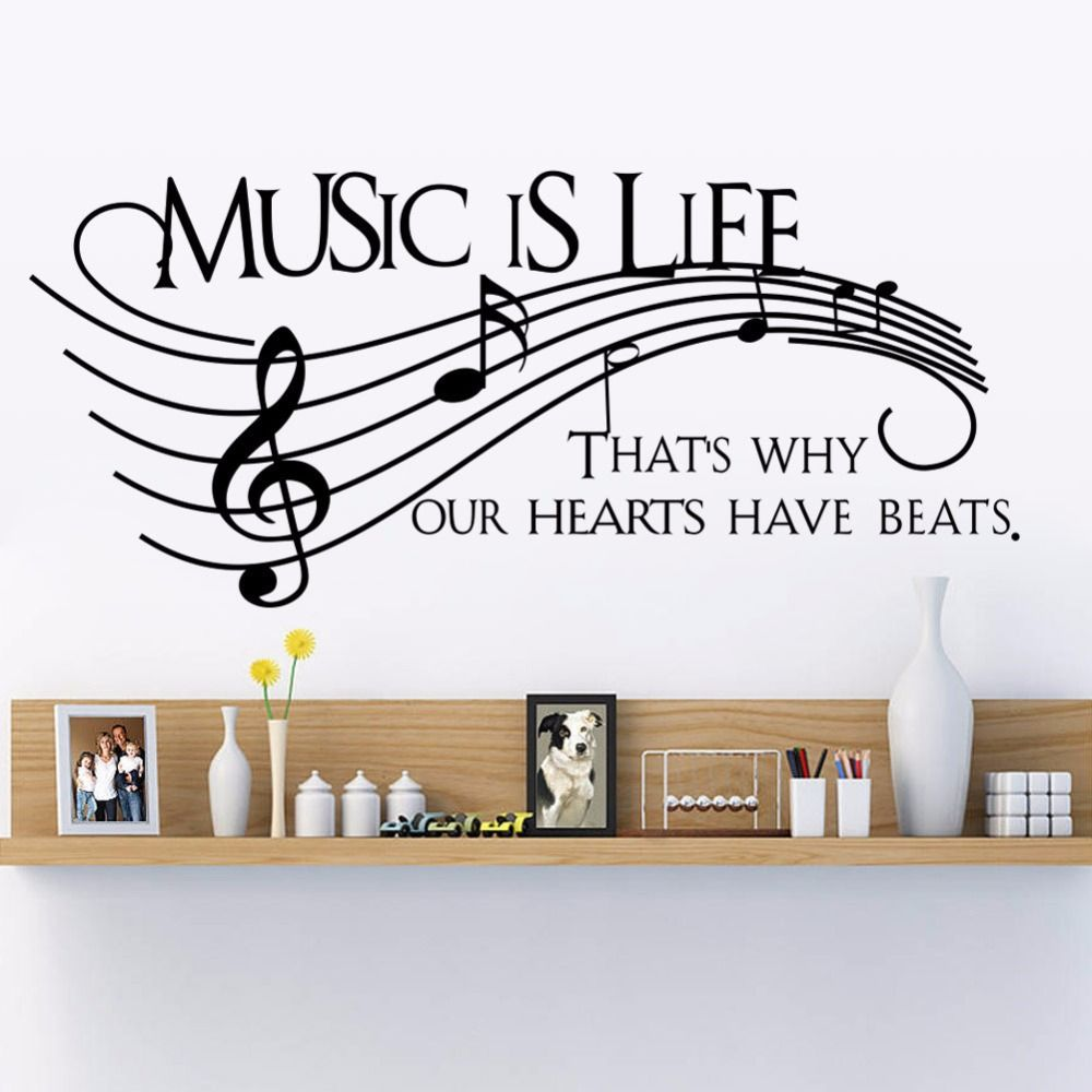 Popular Music Note Wall Decals Buy Cheap Music Note Wall Decals .
