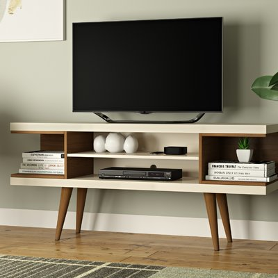 George Oliver Lemington Tv Stand For Tvs Up To 50 Inches Colour Off White Maple Cream In 2020 Living Room Tv Wooden Tv Stands Home