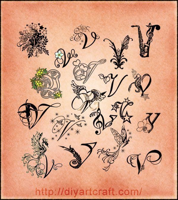 Lettering V Typography Tatuajes Pinterest