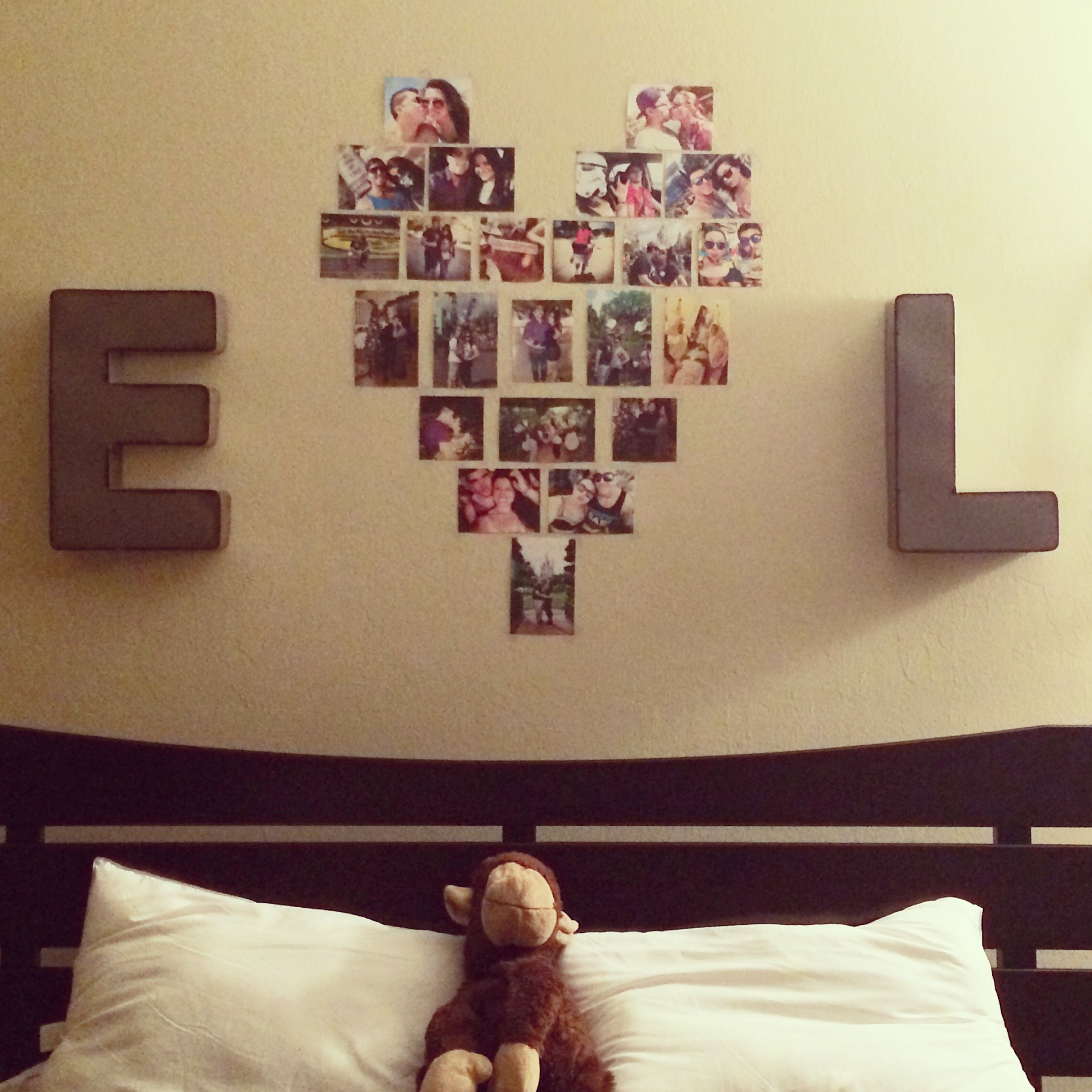 Cute idea for a couples apartment emmyandleo Cute bedroom wall ideas