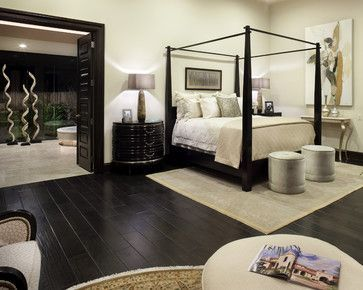 Dark Hardwood Flooring In Master Bedroom Dark Brown Hard Wood Flooring Is Available At Express Floor Bedroom Flooring Wood Bedroom Design Black Bedroom Design
