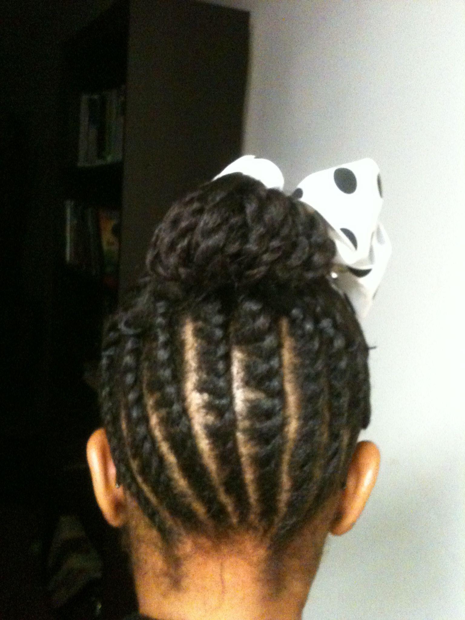 Flat Twist Style For Little Girls