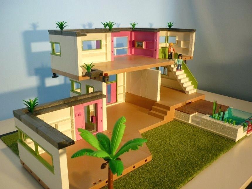 Maison Moderne Playmobil Un Jouet Pas Cher Pour Vos Enfants Chambre Enfant Maison Zenidees Maison Moderne Playmobil Maison Playmobil Maison Moderne