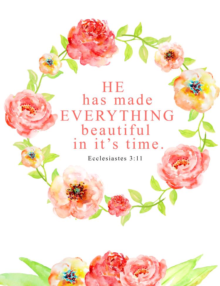 Floral Bible Verse Printable | Verses, Free printable and