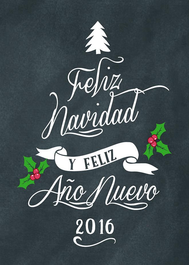 Carta De Felicitaciones De Navidad Y Ano Nuevo.Felicitacion De Navidad Imprimible Enunclip Tarjeta Navidad