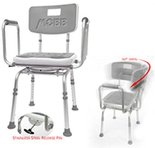 Marvelous Mobb Premium Bathroom Swivel Shower Chair Bath Bench With Theyellowbook Wood Chair Design Ideas Theyellowbookinfo