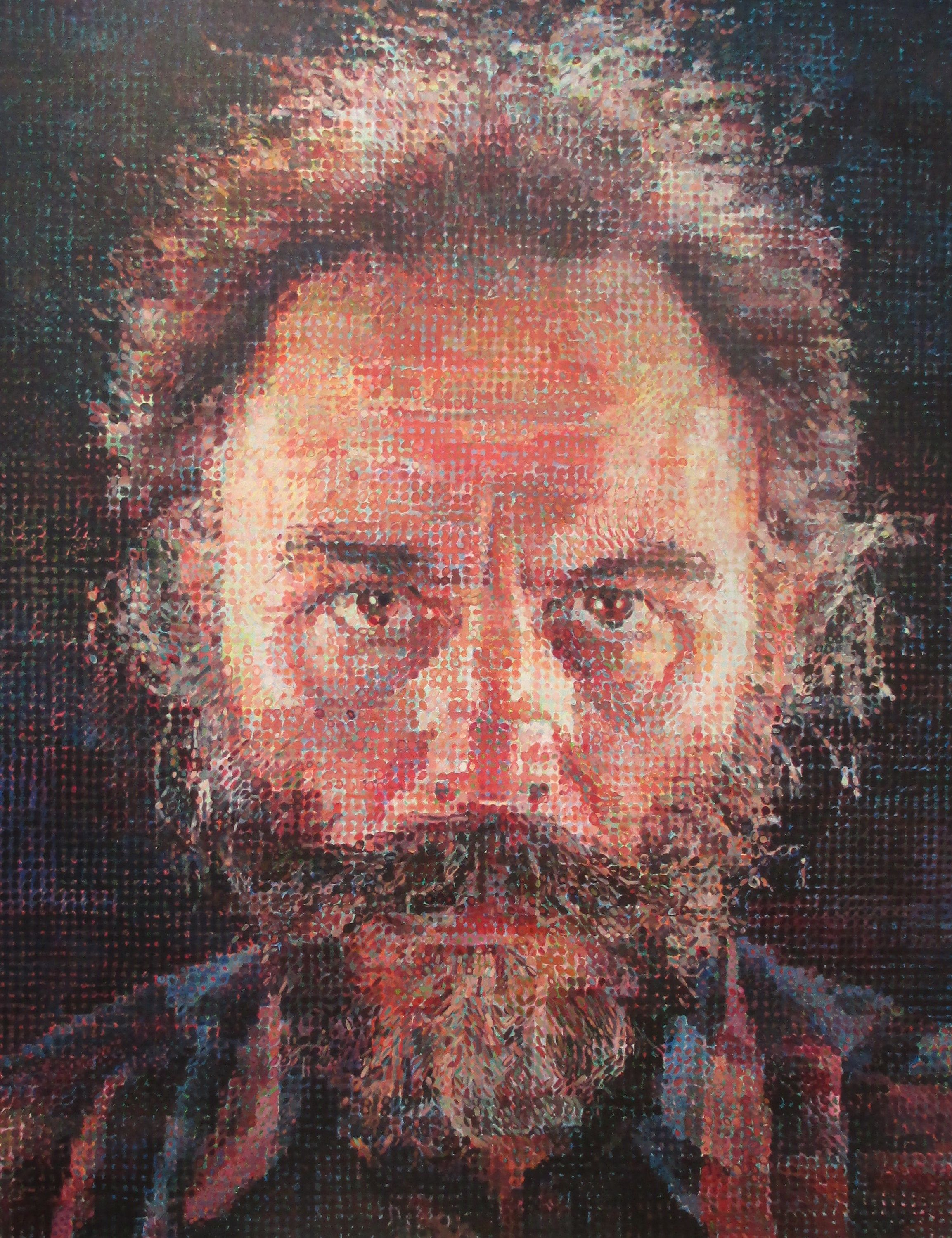 A Close Up Of A 14 Year Old Boy Covered In Snow Stock: Chuck Close