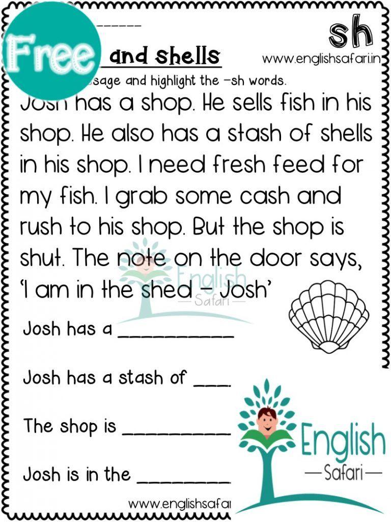 medium resolution of digraphs reading comprehension FREE www.worksheetsenglish.com   Reading  fluency passages