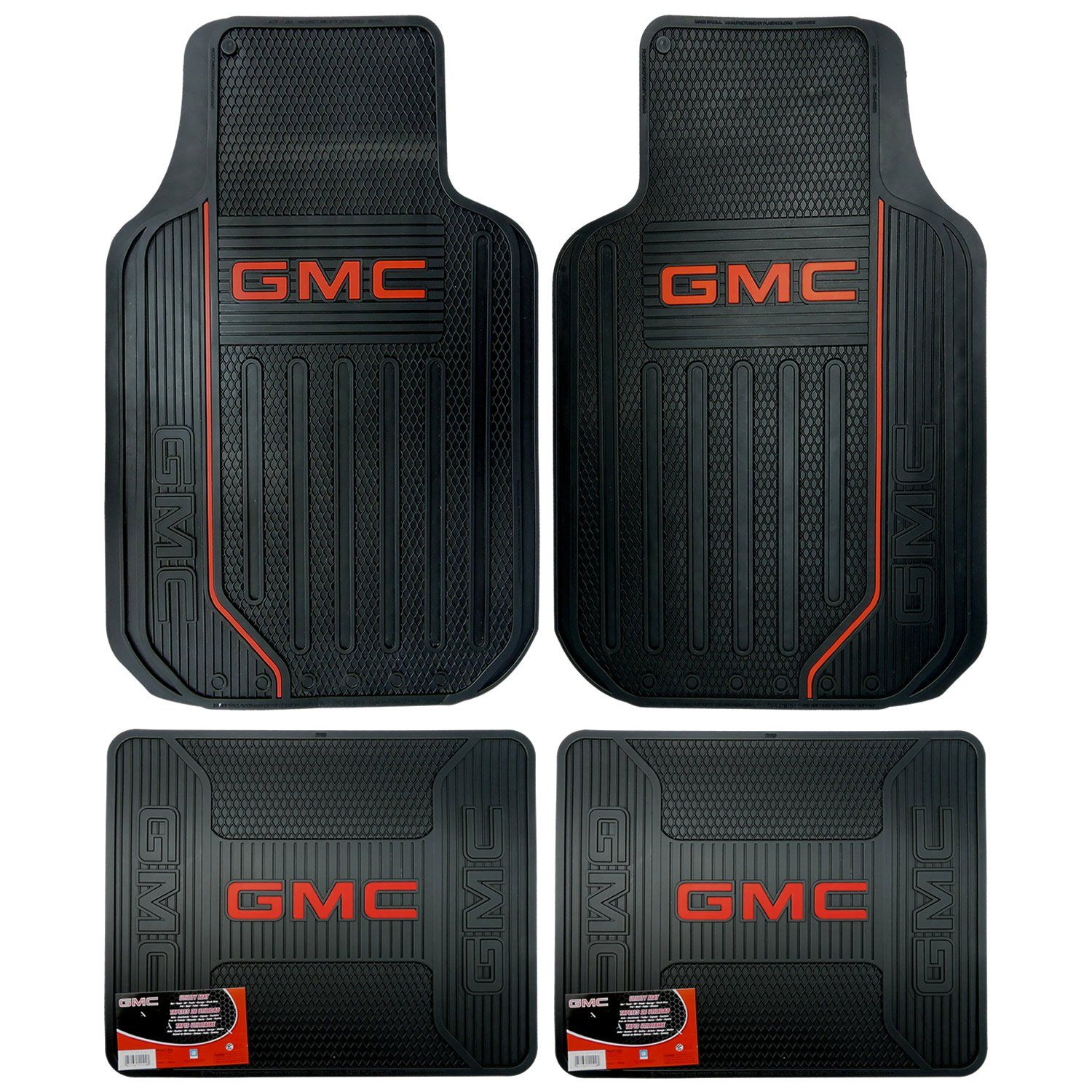 U A A Inc Gmc Logo Elite Series Front And Rear Car Truck Suv Seat Rubber Floor Mats Want Additional Info C Rubber Floor Mats Rubber Flooring Cargo Liner
