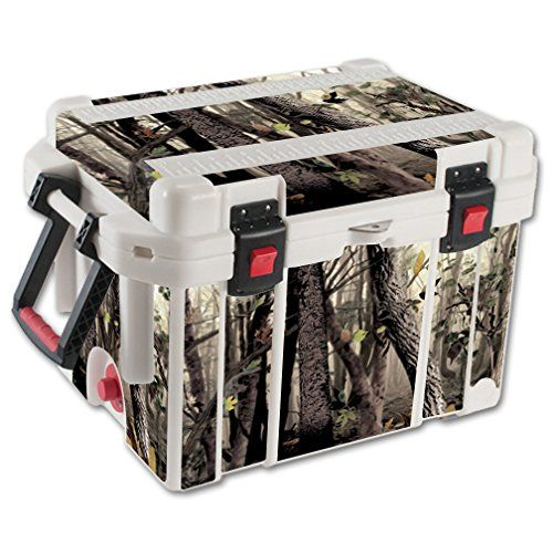 MightySkins Protective Vinyl Skin Decal for Pelican 45 qt Cooler wrap cover sticker skins Tree Camo *** Click image for more details.