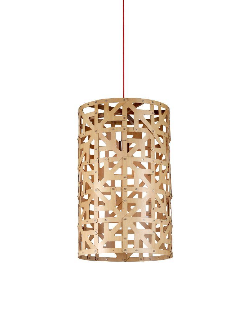 EMS Free Shipping E27 Pendant Lamp Light Cylinder Wood Cage Shade ...