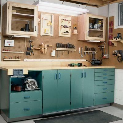 Organized Workbench Diy Garage Shop Garage Storage Garage Tools