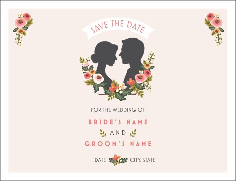 Save the Date Wedding menu, Wedding menu cards