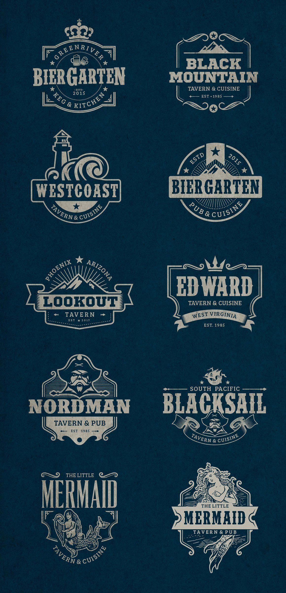 Vintage Tavern & Bar Logos Pub logo