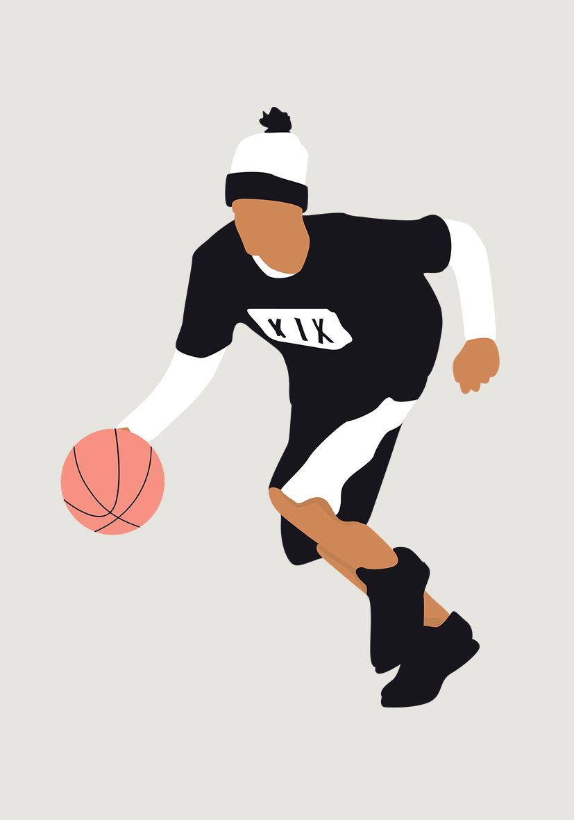 Vector Man Playing Basketball People Illustration Silhouette People Basketball Drawings