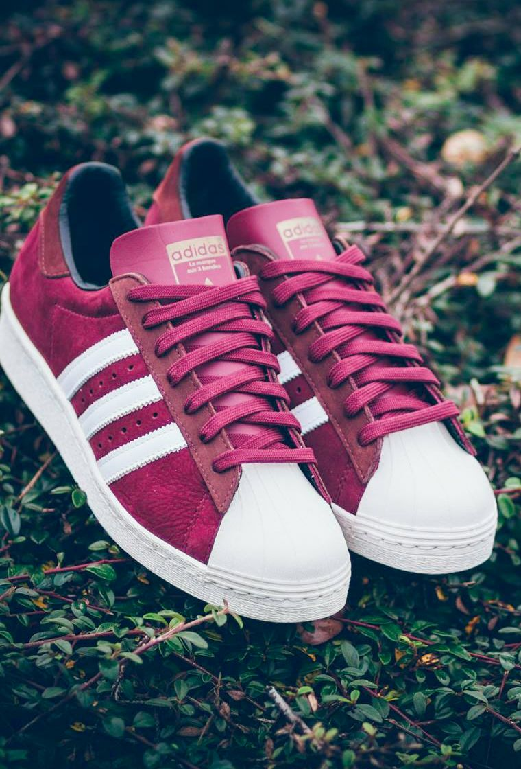 Adidas Superstar 80s Collegiate Burgundy (by Snipes