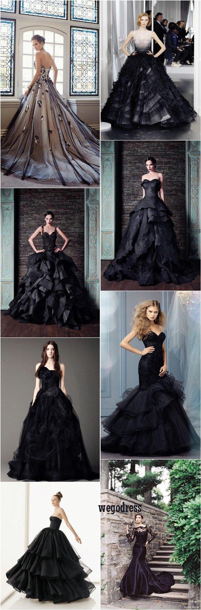 Vintage black wedding dresses   Gorgeous Black Wedding Dresses  Black wedding dresses Wedding