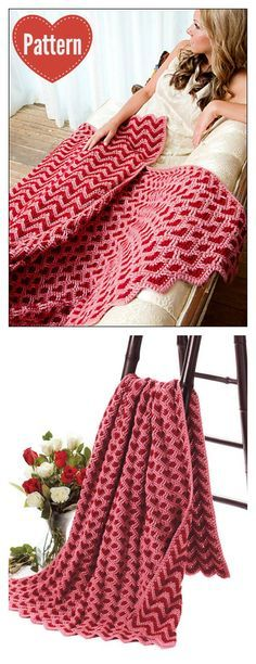 Sweetheart Ripple Afghan Blanket Crochet Pattern | Pinterest ...