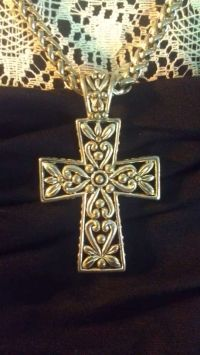 93a874325e37b Silver Scroll Cutout Plated Cross Necklace | Crafting | Cross ...