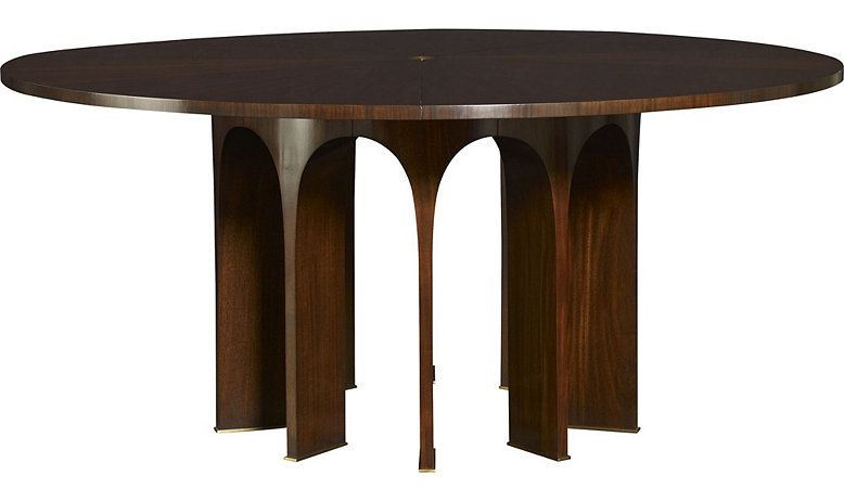 82 Wood Top Arcade Dining Table By Thomas Pheasant 8639 Baker