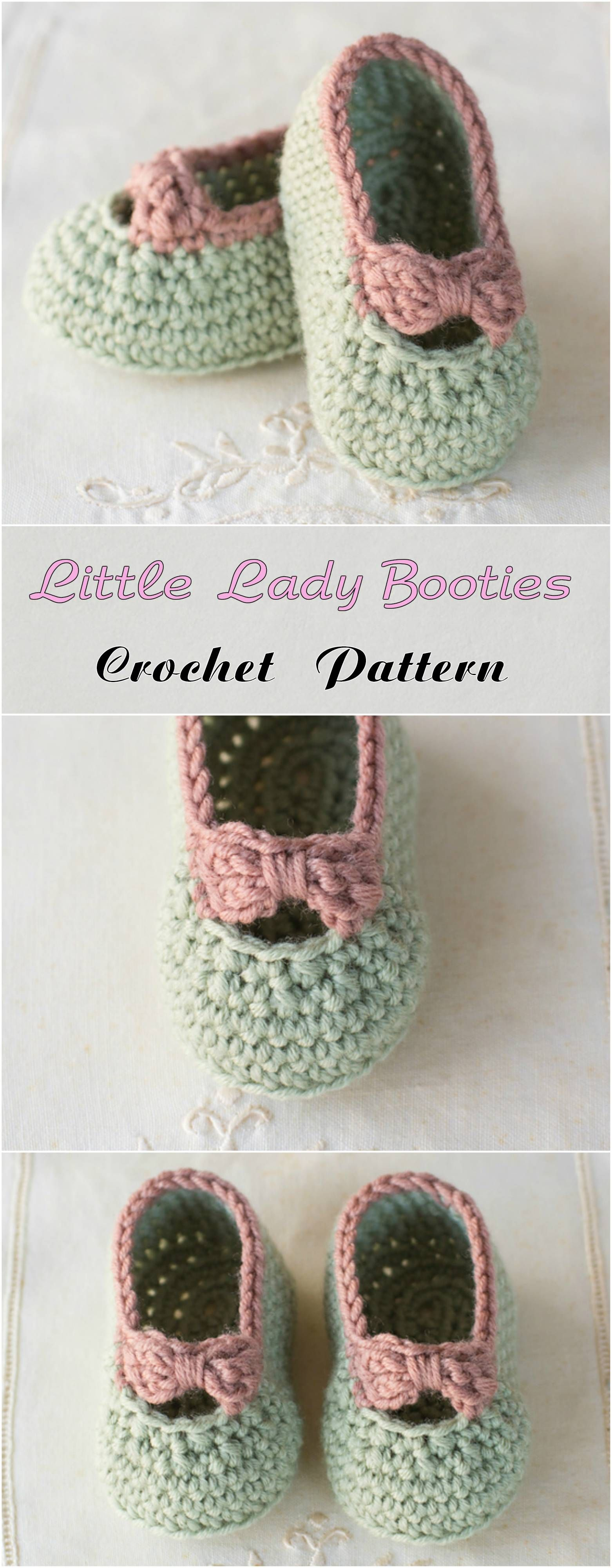 Little Lady Booties | Bebe, Zapatos y Ganchillo