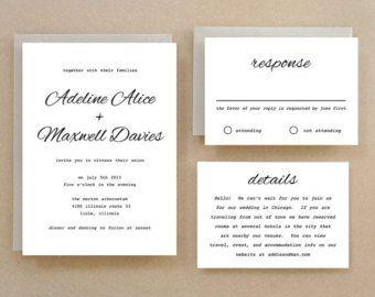 Printable wedding invitation template instant download simple printable wedding invitation template instant download simple calligraphy word or pages mac stopboris Gallery