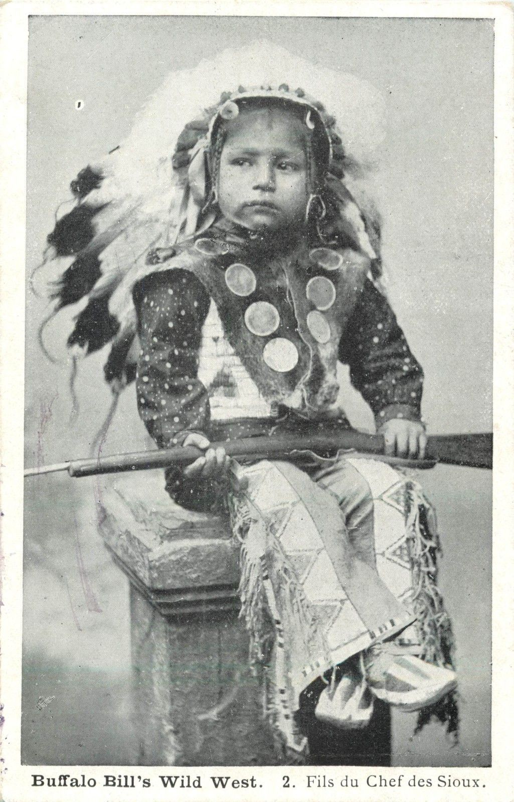 Buffalo Bill's Wild West Show Sioux Child with Rifle