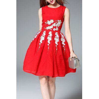 Prezzi e Sconti: #Sleeveless fit and flare red dress Instock  ad Euro 76.26 in #Red #Designer clothing designer