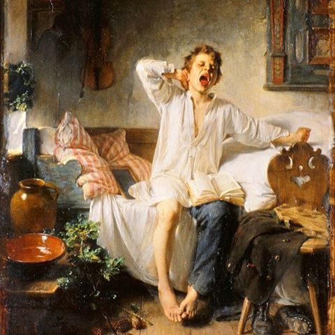 The Morning Has Gold In Its Mouth Boy Awakening By Toby Edward Rosenthal 1848 1917 Imagens Católicas Católico Crianças