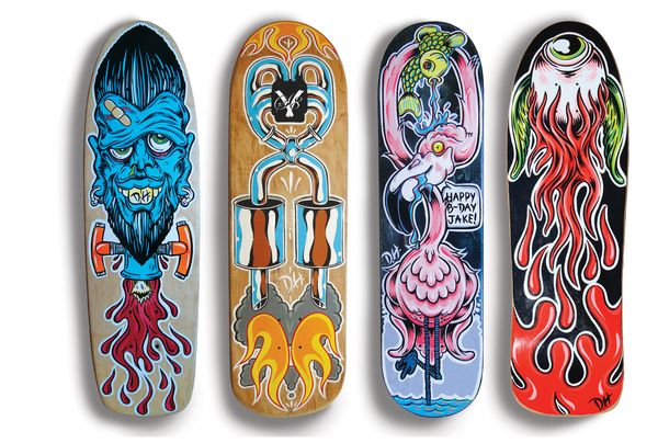 custom skateboard decks by dh by dane holmquist via behance