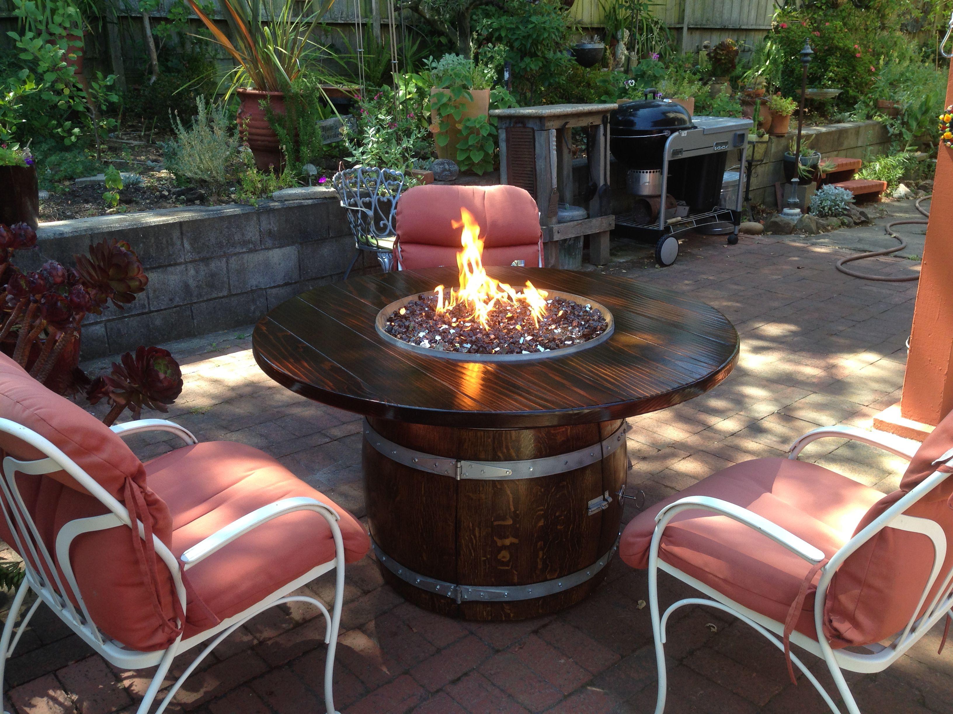 pin by pat moran on wine barrel fire table pinterest fire table