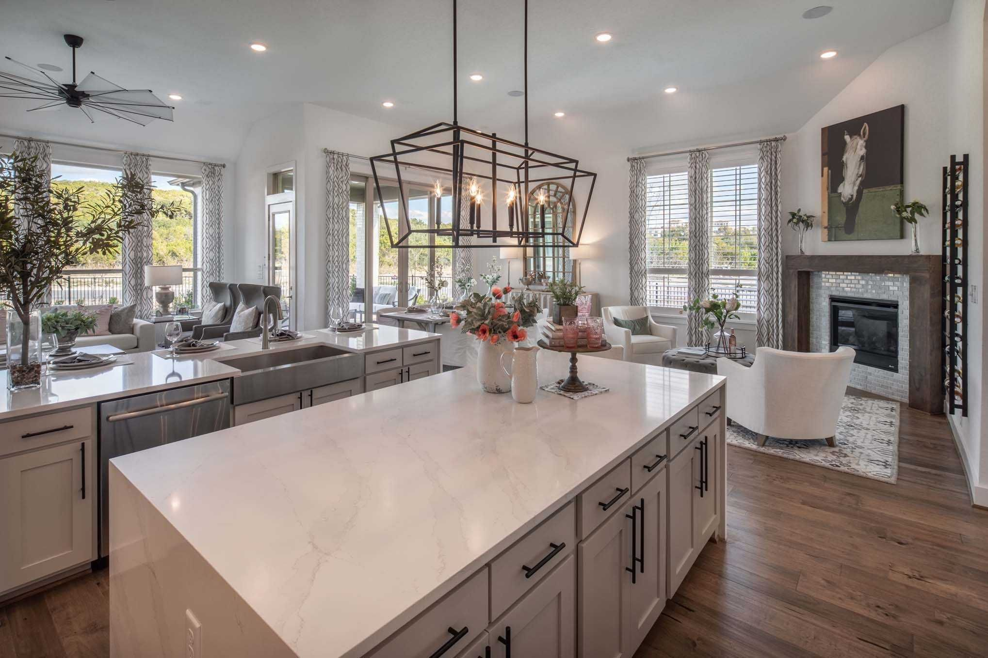Kitchen in Highland Homes 216 Plan at 17906 Cantera Court
